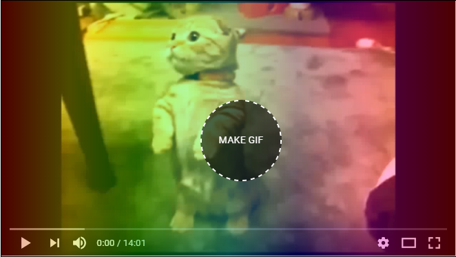 put mouse cursor on video to get make gif