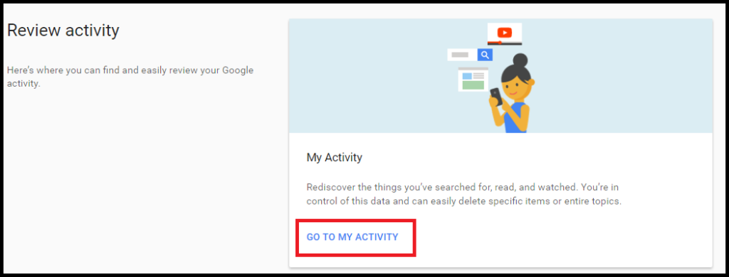 review activity under google my account