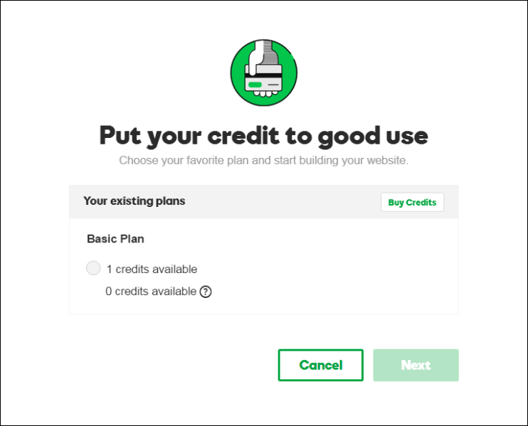 use godaddy plan credit to setup wordpress