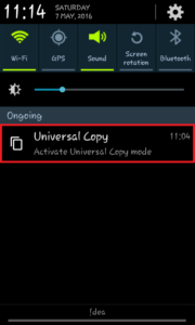activate universal copy mode