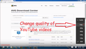 change quality of youtube videos