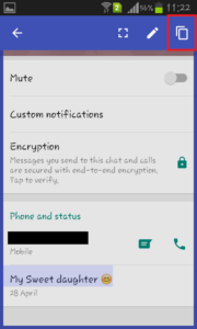 copy whatsapp status on android