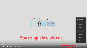 speed up slow videos on youtube