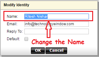 change display name in godaddy workspace email