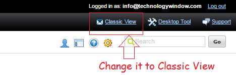 change godaddy workspace to classic view