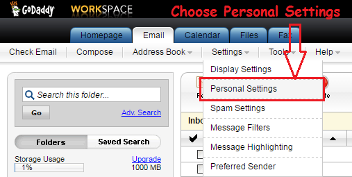 How to change display name in GoDaddy Workspace email