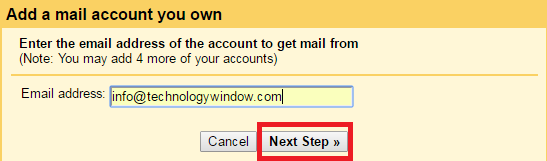 add a pop3 mail account in gmail