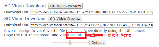 save facebook videos in google drive