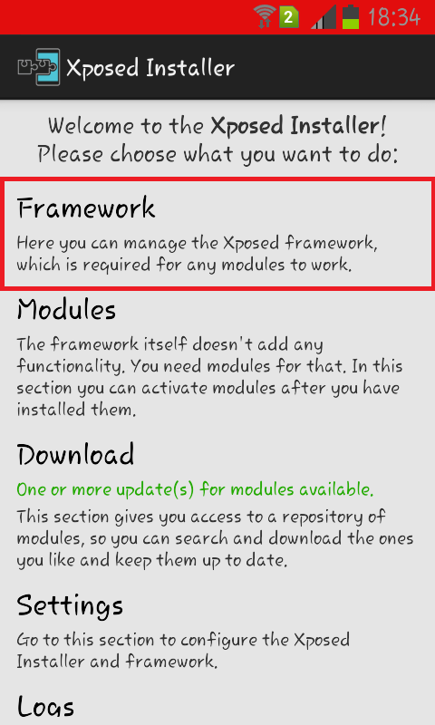 How to install Xposed Framework in Android 4 0 3 to 4 4
