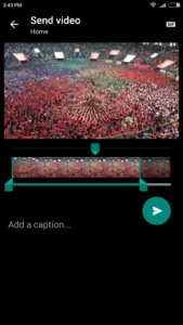 covert video into gif image using whatsapp
