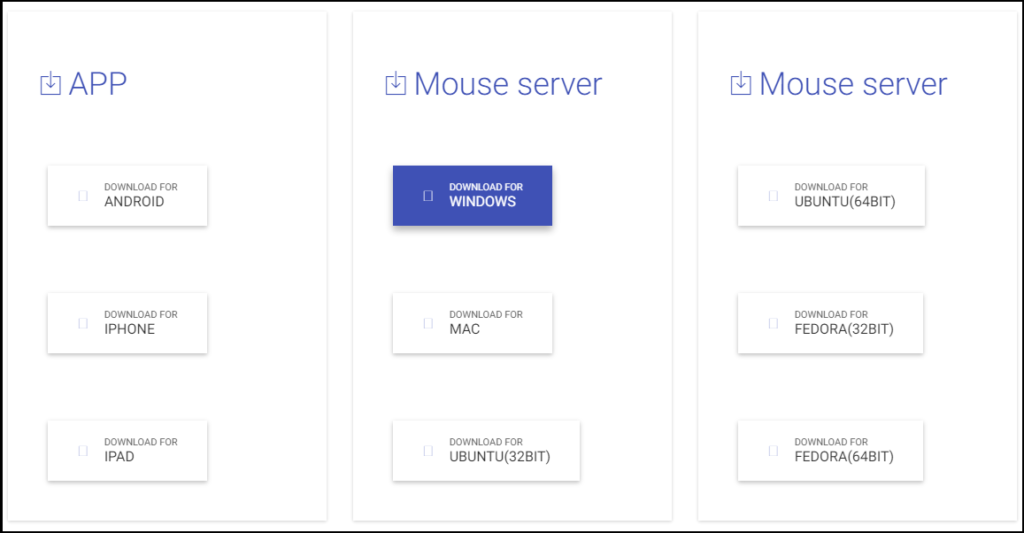 download mouse server for wifi mouse