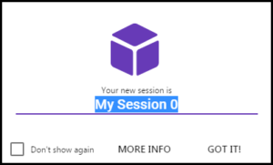 name new session in sessionbox