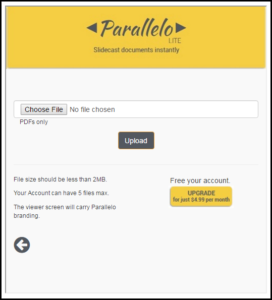 upload presentation document to parallelo lite