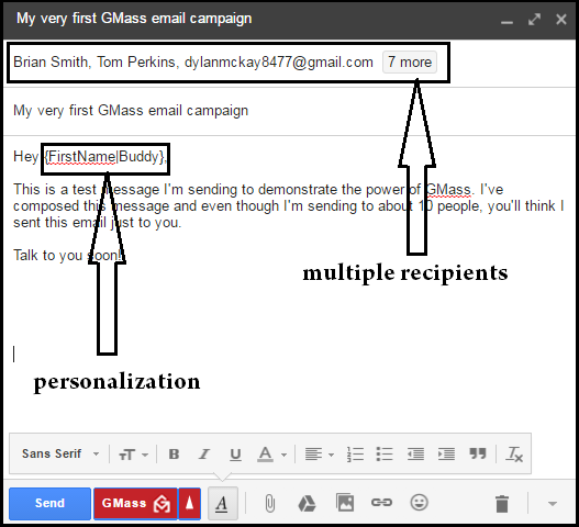 add multiple recipients in gmail email