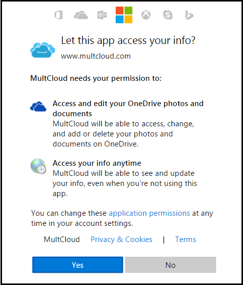 authorize multcloud to read cloud drive
