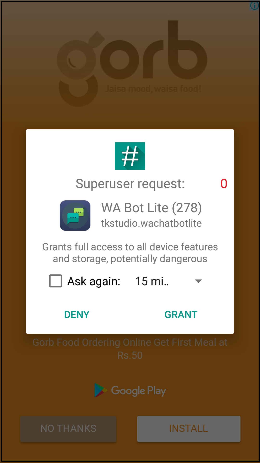 How to send an automatic reply to WhatsApp message in Android