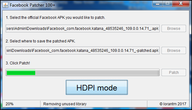 patch facebook app with facebook patcher hundred plus