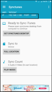 synctunes android app