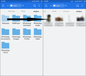 view whatsapp status in es file explorer