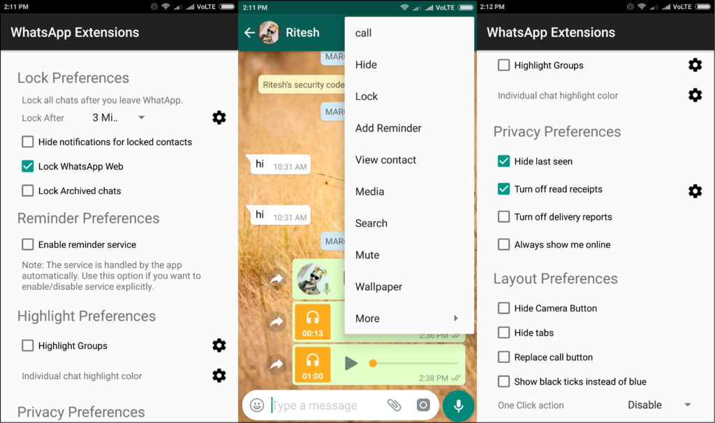xposed module whatsapp extensions