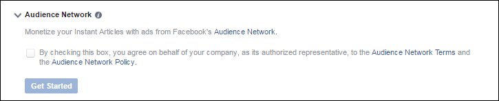 sign up for facebook audience network