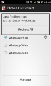 redirect whatsapp media files to sd card with photo and file redirect